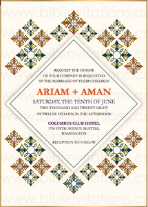 Eritrean Ethiopian DIY Template Wedding Invitation