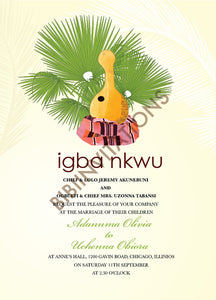 Ijeoma Nigerian Igbo Traditional Wedding Invitation