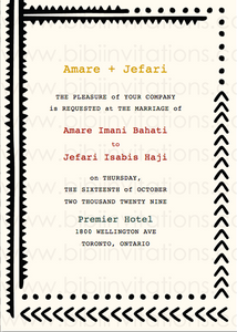 DIY Template Wedding Invitation