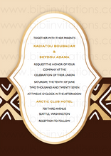 Load image into Gallery viewer, Bogola Mudcloth  DIY Template Wedding Invitation