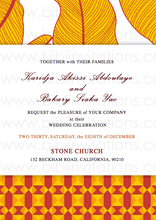Load image into Gallery viewer,  Floral Orange and Red DIY Downloadable Template Wedding Invitation