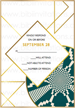 Load image into Gallery viewer, NYALA - Digital DIY African Wedding Invitation Template