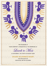 Load image into Gallery viewer, NATAKO - Digital DIY African Wedding Invitation Template