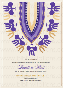 NATAKO - Digital DIY African Wedding Invitation Template