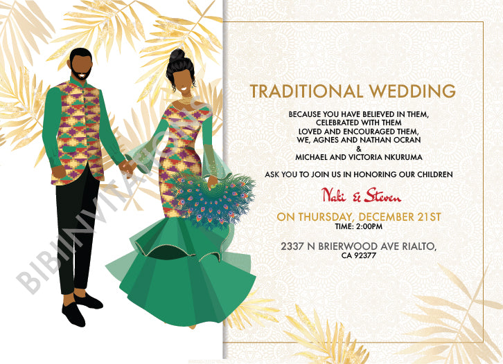 Odo Foforo- Ghanaian Traditional Wedding Invitation