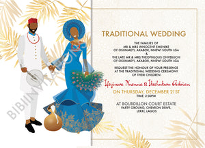 Ododo Ocha- Igbo Traditional Wedding Invitation