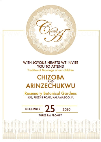 Everlasting Love Traditional Wedding Invitation