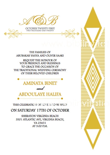 The One Traditional Wedding Invitation