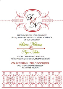 Cherish Traditional Wedding Invitation