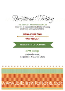 Mehia wo Ghana Traditional Wedding Invitation