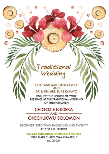 Obinwunyeya Igbo Traditional Wedding Invitation