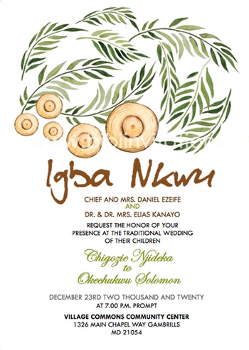Nnem Igbo Traditional Wedding Invitation