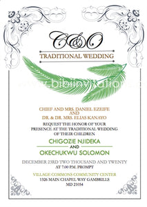 Onyembunobi Igbo Traditional Wedding Invitation