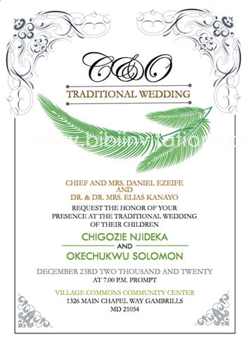 Switiem Igbo Traditional Wedding Invitation