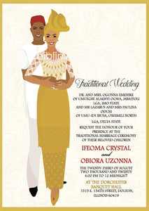 Oyim Ututu Nigerian Yoruba Traditional Wedding Invitation