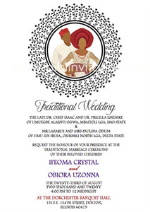 Adaeze-Circle Igbo Traditional Wedding Invitation