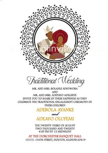 Aya Mi-Circle Yoruba Traditional Wedding Invitation