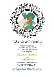 True Love-Circle Hausa Traditional Wedding Invitation