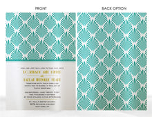 Load image into Gallery viewer, ART DECO WEDDING INVITATION OPTION 2