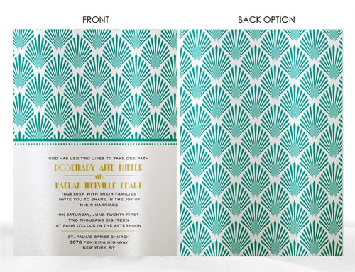 ART DECO WEDDING INVITATION OPTION 2