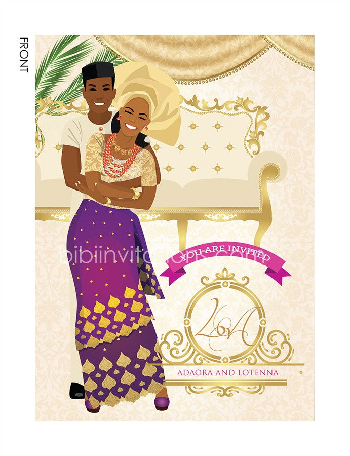Akwa-Ugom Igbo Nigerian Traditional Wedding Invitation