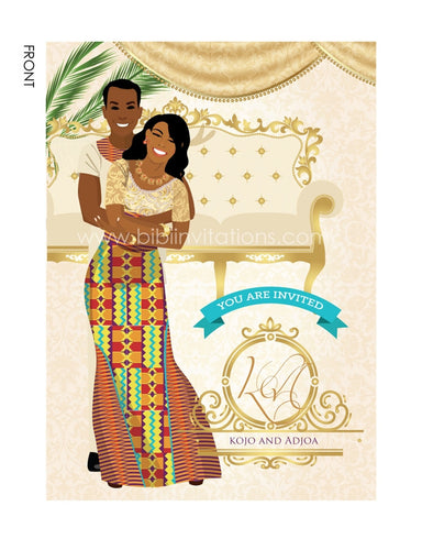 Medofo Ghanaian Traditional Wedding Invitation