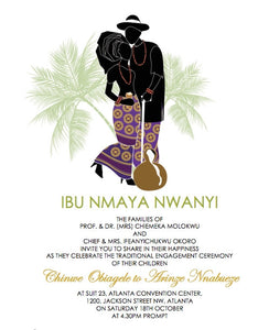 Akum Igbo Tradtional Wedding Invitation