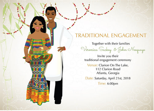 Me dowapaa Ghanaian Traditional Wedding Invitation