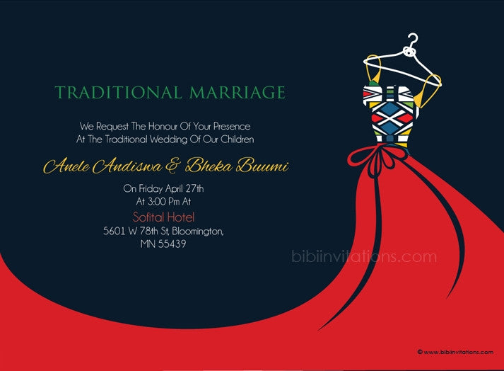 Busisiwe Ndebele Traditional Wedding Invitation
