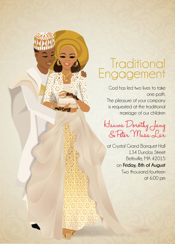 MIJI Nigerian Hausa Traditional Wedding Invitation