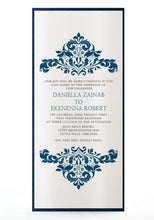 Load image into Gallery viewer, DAMASK WEDDING INVITATION