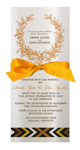 BAAKO WEDDING INVITATION