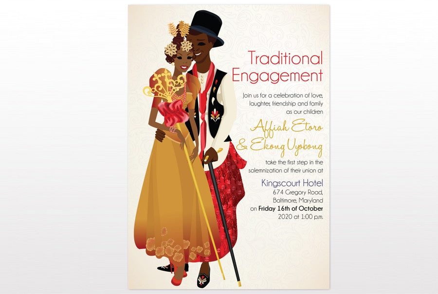 Mme ma fi Nigerian Efik Traditional Wedding Invitation