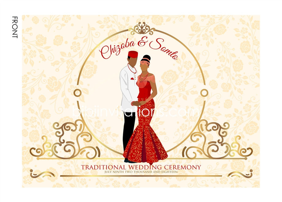 Ola edo'm Igbo Nigerian Traditional Wedding Invitation