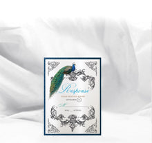 Load image into Gallery viewer, VINTAGE PEACOCK WEDDING INVITATION