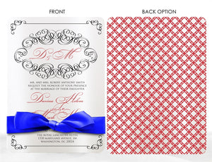 VINTAGE SWIRL WEDDING INVITATION