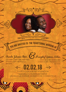 OBI DIA African Wedding Invitation