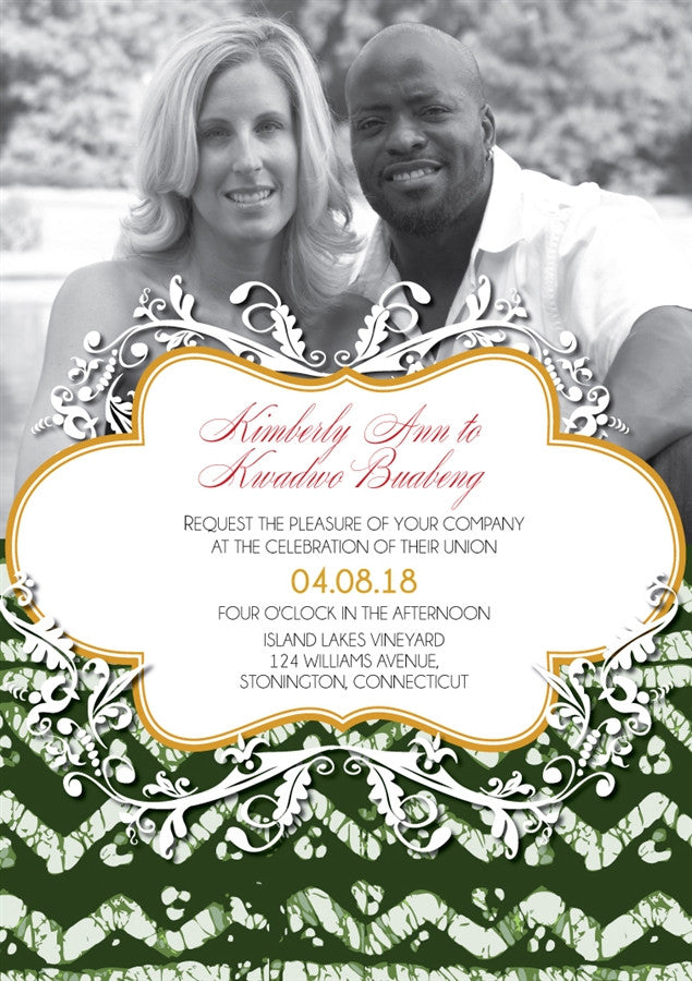 AJIKE African Wedding Invitation