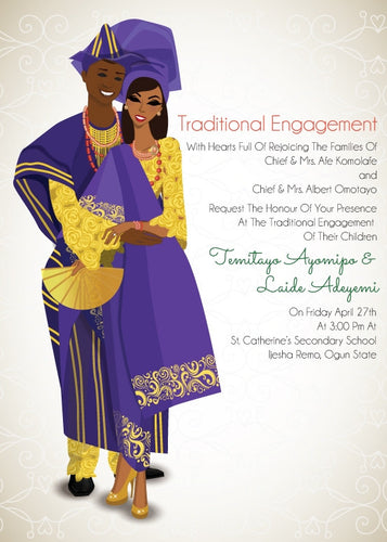 Love Me Jeje Yoruba Nigerian Traditional Wedding Invitation