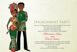 Suga Cane Bebe Liberian Traditional Wedding Invitation