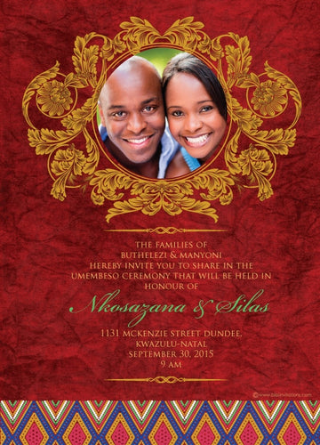 Thandeka South African Umabo Traditional Wedding Invitation