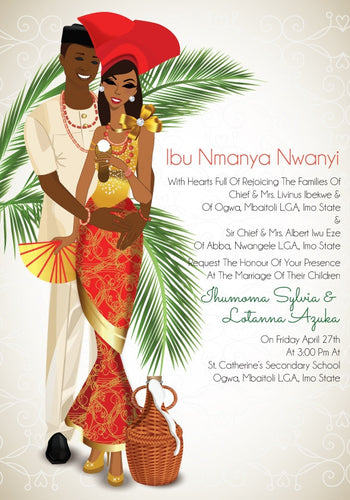 Tomato Jos Mu Nigerian Igbo Traditional Wedding Invitation