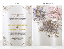 Load image into Gallery viewer, PEONY WEDDING INVITATION OPTION 2