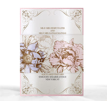 Load image into Gallery viewer, VINTAGE PEONY WEDDING INVITATION