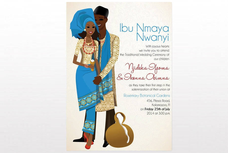 Obi Mu Nigerian Igbo Traditional Wedding Invitation
