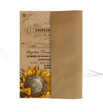 Load image into Gallery viewer, VINTAGE SUNFLOWER WEDDING INVITATION OPTION 2