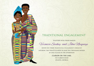 Obaa  Sweety Ghanaian Traditional Wedding Invitation