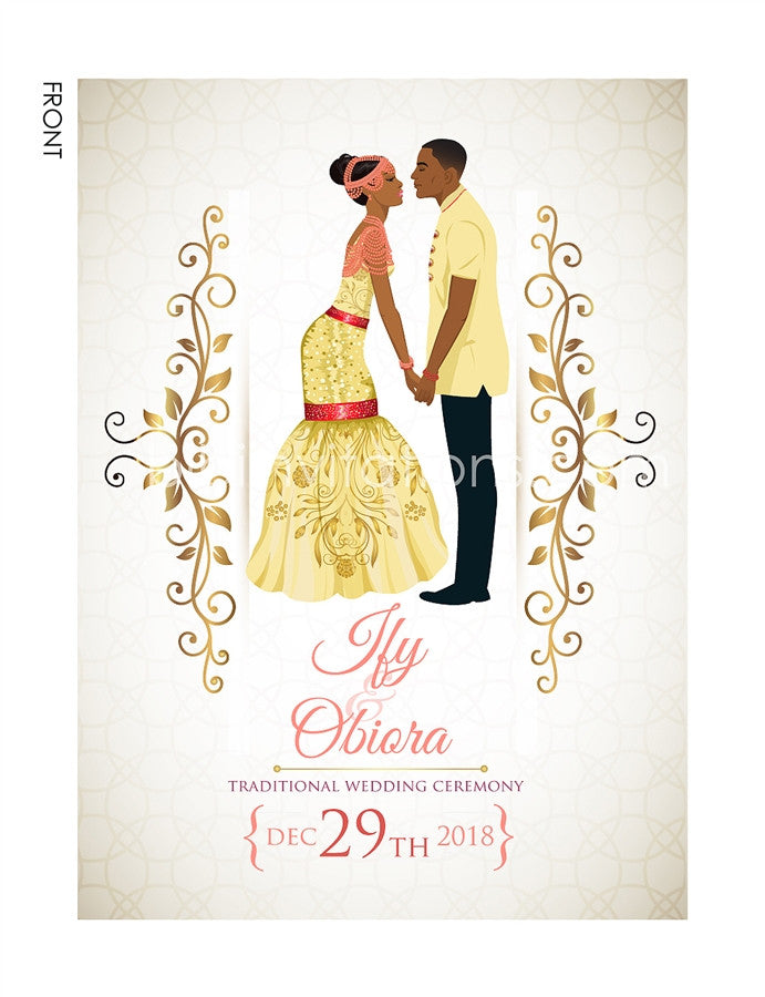 Akwa Nwa Igbo Nigerian Traditional Wedding Invitation