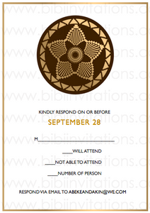 DIY Downloadable Template Wedding Invitation  RSVP