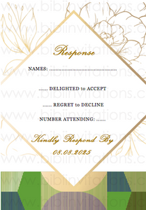 Ghana Kente Downloadable Template Wedding Invitation